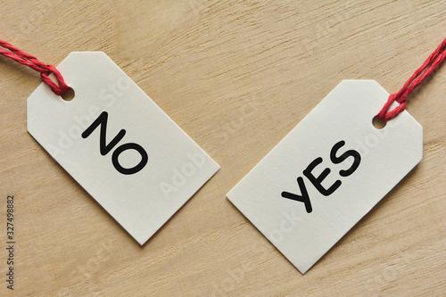 Obraz na plátne YES or NO