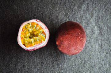 Passion Fruit from farm, photo top view.