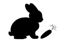 Rabbit And Carrot Silhouette I...