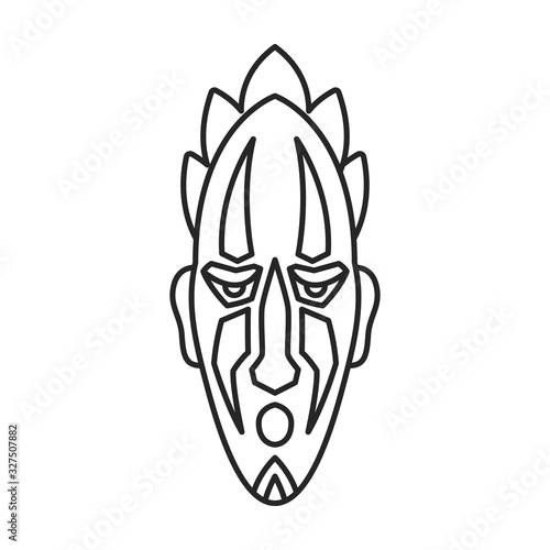 Photo African mask vector icon