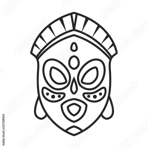 African mask vector icon Canvas Print