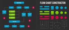 Creative Vector Illustration Of Corporate Organization Flow Chart Constructor. Business Team Organizational Chat Background. Hierarchy, Structure Design Template. Abstract Concept Infographic Element