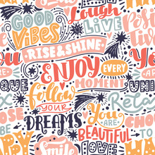 Lettering Seamless Pattern Pos...