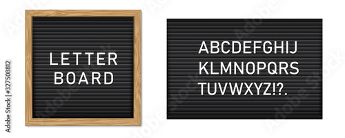 Foto Creative vector illustration of letter board, letterboard for message, police mugshot banner, menu, sign, poster background