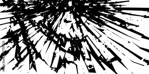 Fototapeta Rozbite szkło. Abstrakcyjne tło wektor. obraz