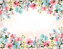 Wild Floral Watercolor Abstrac...