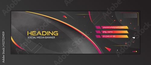 Fotografía Abstract Gaming Header Social Media Banner Template
