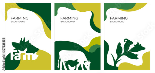 Cover design with farm animals Wallpaper Mural