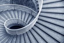 Empty Modern Spiral Stairway, ...