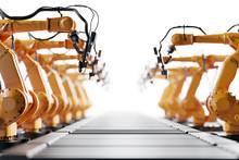Robotic Arms Along Assembly Li...