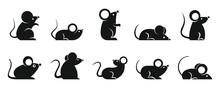 Rat Icons Set. Simple Set Of R...