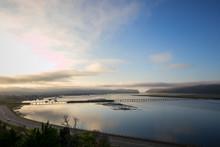 Misty Morning Sunrise Over Knysna Lagoon