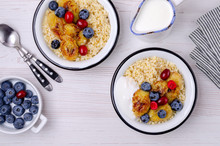 Wheat Porridge With Fruit And Berries