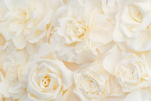 Artificial White Rose Buds For...