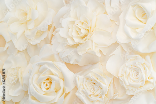 Fotografia Artificial white rose buds for background and design