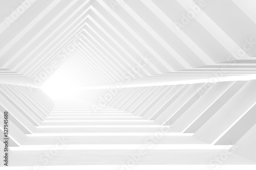 Abstract background with empty endless tunnel, 3 d - 327545680
