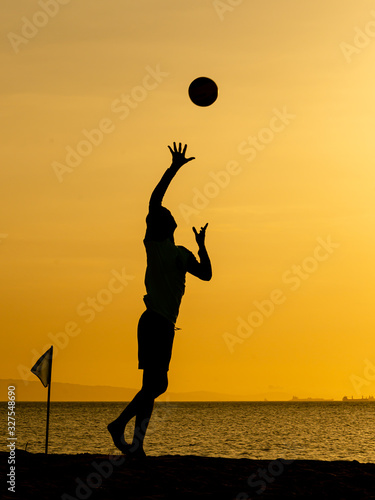Photo Voleibol Playa Silueta