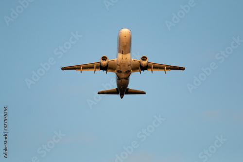 Photo survol d'un avion