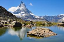Matterhorn Berg Spiegelung Rif...