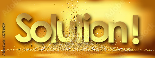 Solution in golden stars and background Canvas Print