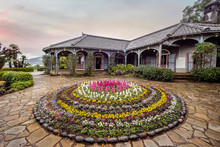 Glover Garden At Sunset In Nag...