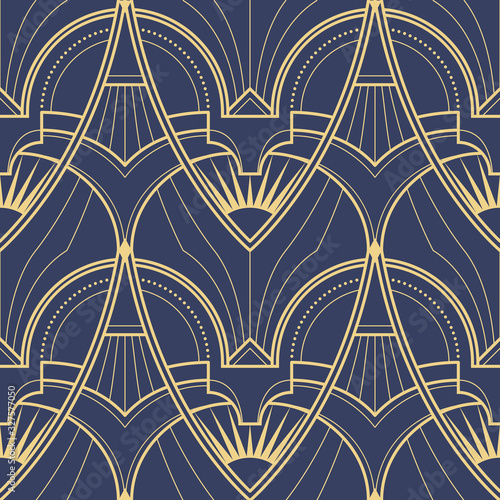 Abstract art deco geometric pattern vector