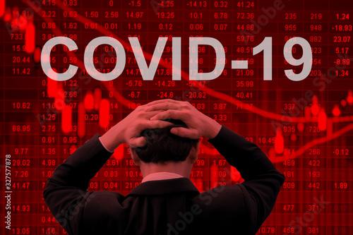 Fotografía Covid-19 epidemic making world economy in serious crisis