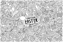 Vector Set Of Easter Theme Ite...