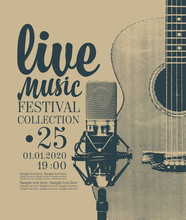 Vector Poster For A Live Music...