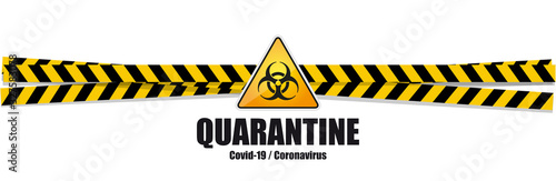 Obraz Coronavirus Covid-19 / Quarantine warning banner - fototapety do salonu