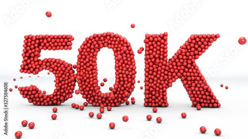 50K followers Fototapeta