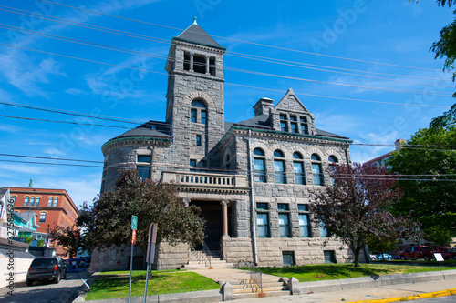 Woonsocket District Courthouse in downtown Woonsocket, Rhode Island RI, USA Canvas Print
