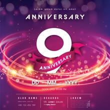 9 Years Anniversary Logo Templ...