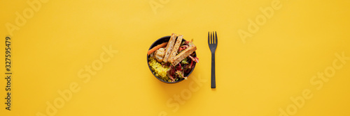 Fototapeta Tasty and delicious vegan Buddha bowl obraz