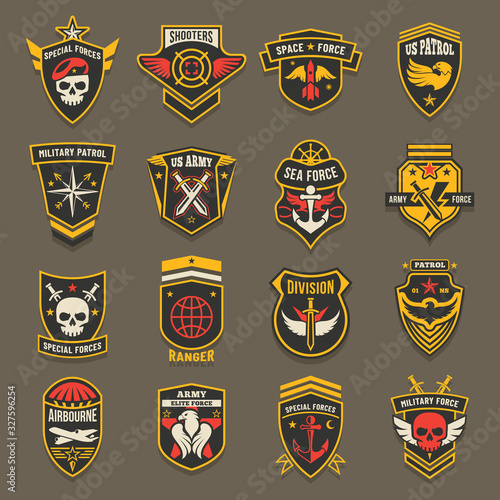 Photo Military army chevrons, US patrol aviation forces