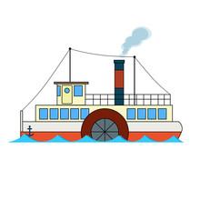 Retro Passenger River Steamboa...