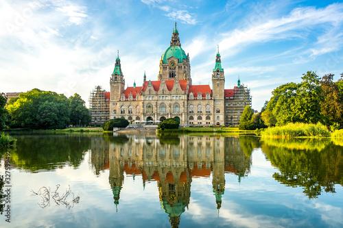 Fototapeta Neues Rathaus, Hannover, Deutschland  obraz