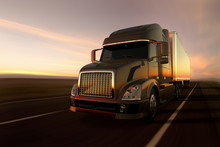3D Rendering Of A Cargo Truck ...