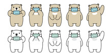 Bear Vector Face Mask Covid 19...