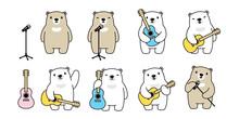 Bear Vector Guitar Polar Bear ...