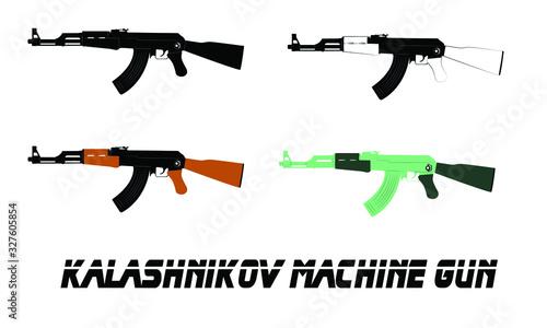 Fotografia Soviet legendary Kalashnikov assault rifle