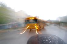 School Bus Driving In Neighbor...