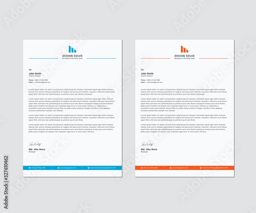 Fototapeta Letterhead Corporate Business Template Design obraz