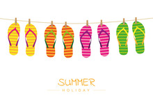 Summer Holiday Striped Flip Fl...