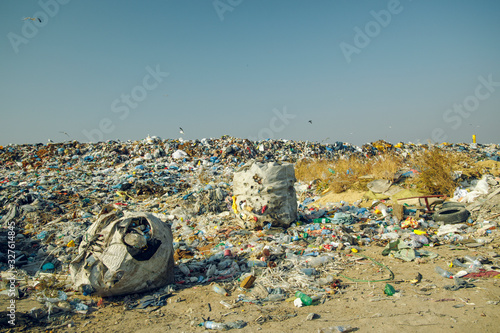 Obraz na plátně dump garbage environment global pollution and ecology disaster reason of human activity