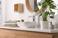 Stylish Vessel Sink On Light C...