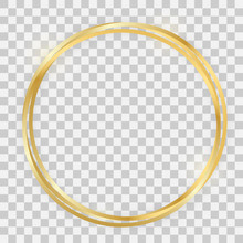 Triple Gold Shiny Circle Frame