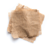 Old Burlap Fabric Napkin, Sack...