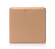 canvas print picture - Front view of blank brown cardboard box
