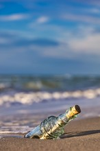 Bottle Message On The Shore L...